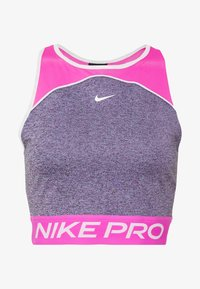 Nike Performance - DRY TANK CROP SPACE DYE - Sportshirt - cerulean/fire pink/white