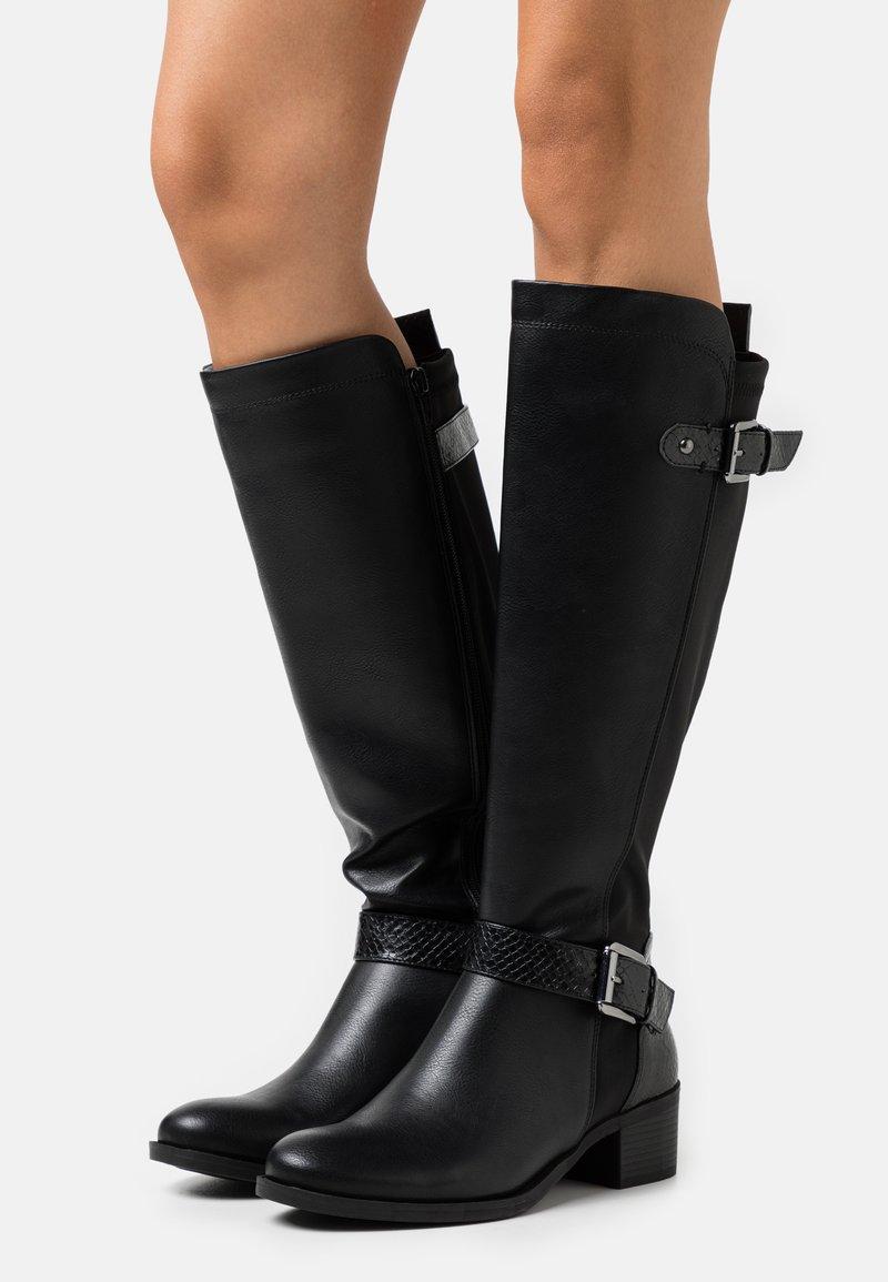 Dorothy Perkins - KABBY KNEE HIGH BOOT - Vysoká obuv - black
