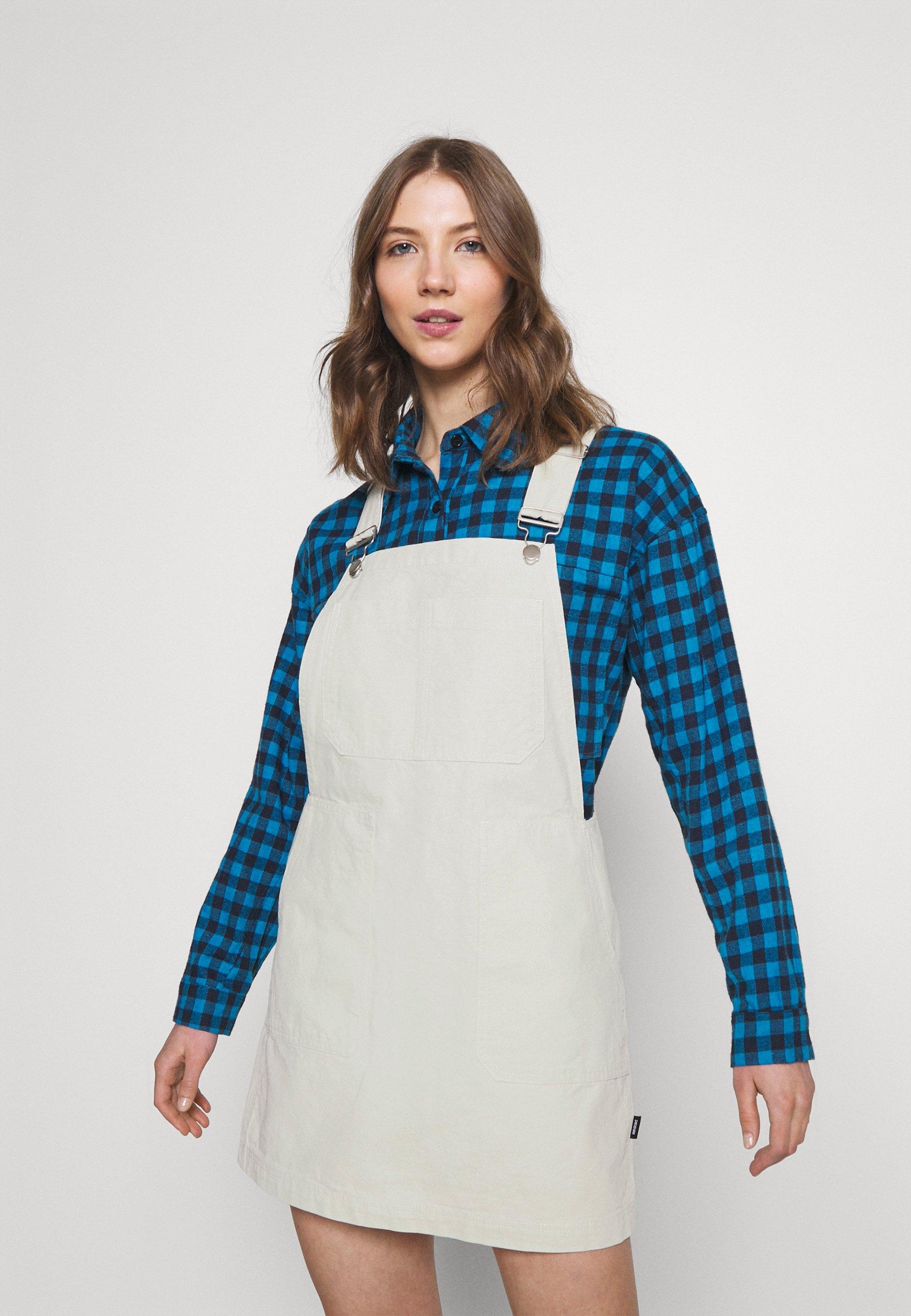 Women JADE PINAFORE DRESS - Denim dress