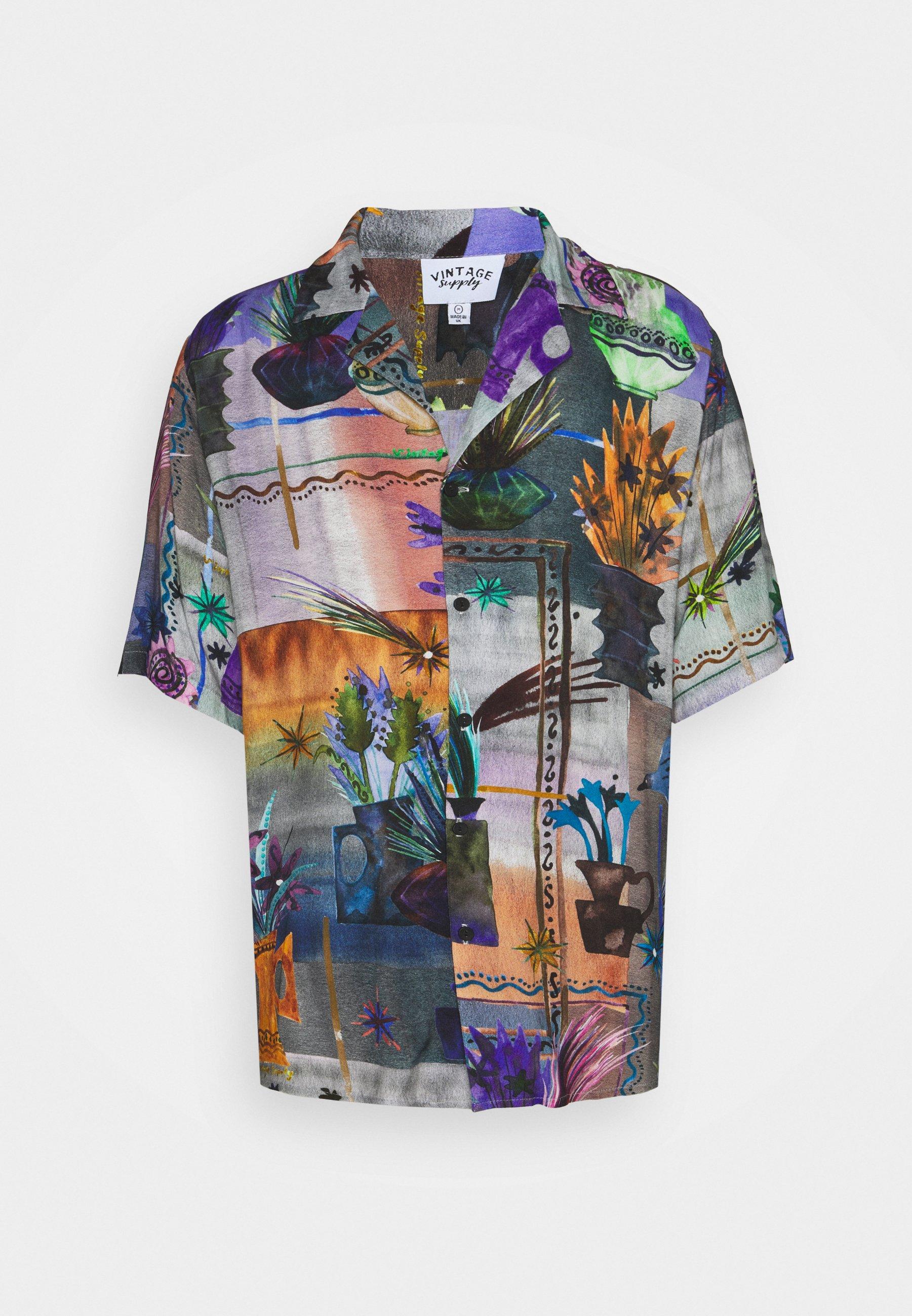 Men REVERE COLLAR SHIRT IN ARTY COLLAGE UNISEX - Shirt