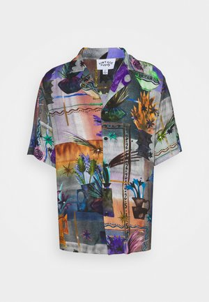 REVERE COLLAR SHIRT IN ARTY COLLAGE UNISEX - Košile - multi