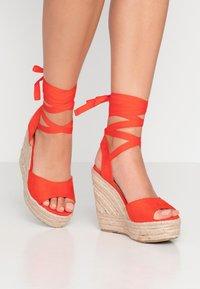 RAID - MARGARET - Sandály na vysokém podpatku - orange - 0