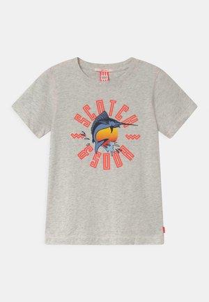 SHORT SLEEVE WITH ARTWORK - Print T-shirt - ecru melange