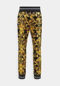Versace Jeans Couture - TECNO  PRINT LOGO BAROQU  - Tracksuit bottoms - black - 8