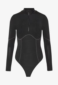 CONTRAST SEAM - Body - black