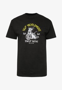 HUF - YEAR OF THE RAT TEE - T-shirt z nadrukiem - black - 3