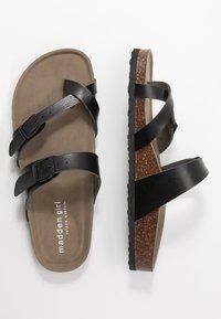Madden Girl - BRYCEEE - Sandály s odděleným palcem - black paris - 3