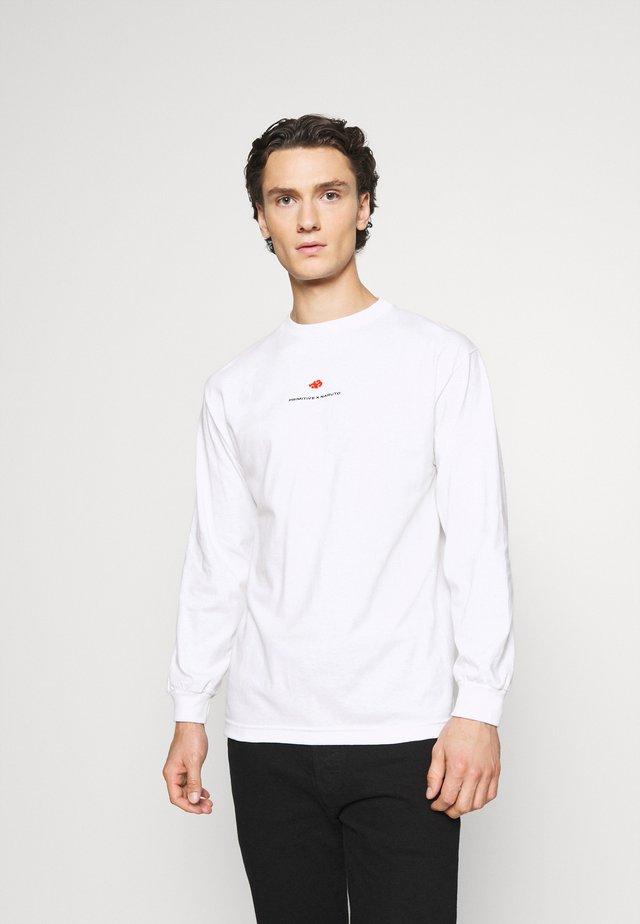 AKATSUKI CLAN TEE - Topper langermet - white
