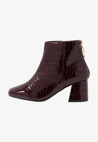 Miss Selfridge Wide Fit - WIDE FIT BRIXTON ZIP BACK SQUARE TOE - Ankle boots - burgandy - 1