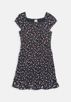 ALLOVER SMOCKED DRESS - Day dress - navy