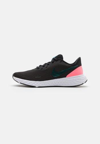 REVOLUTION 5 - Neutral running shoes - black/dark atomic teal/sunset pulse/white