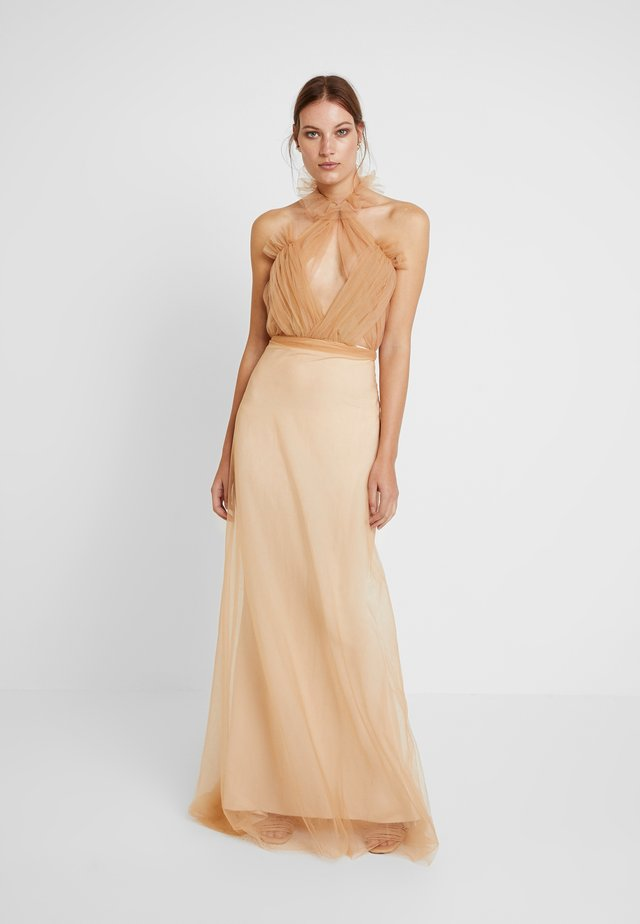JASMIN DRESS - Gallakjole - apricot/cream
