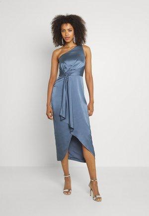 HAIDEE ONE SHOULDER DRESS - Koktejlové šaty/ šaty na párty - slate blue