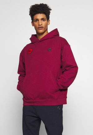 TIME TO ACT - Sweat à capuche - beet red