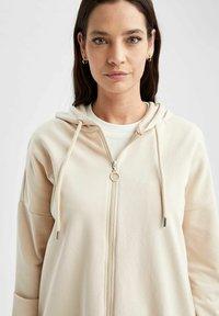 DeFacto - Zip-up sweatshirt - beige - 4