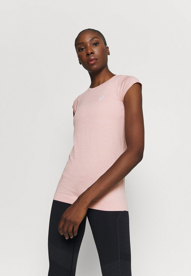 RACE SEAMLESS - T-paita - ginger peach