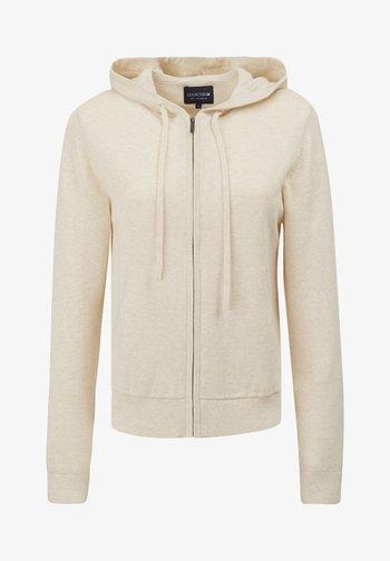 JUNE - Zip-up sweatshirt - light beige melange