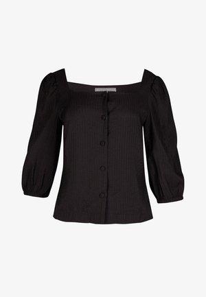 SQUARE NECK BLACK TOP - Blouse - noir