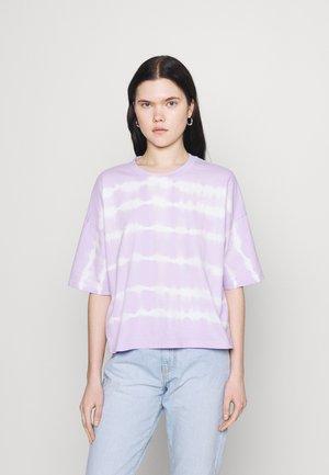 NMBUSTER TIE DYE - Print T-shirt - pastel lilac