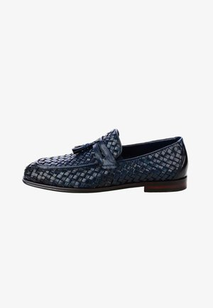 GIARONI - Nazouvací boty - granatowy