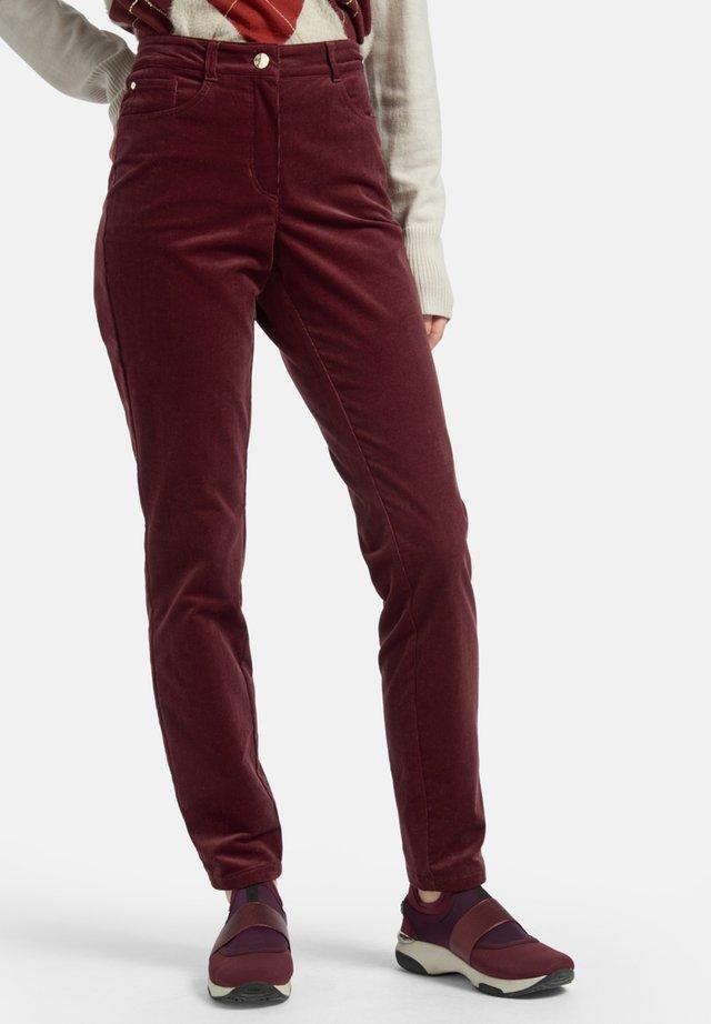 JULIENNE  - Trousers - dunkelrot