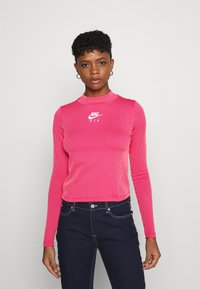 Nike Sportswear - AIR MOCK - Long sleeved top - fireberry/bright mango/white - 0