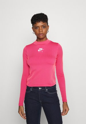 AIR MOCK - T-shirt à manches longues - fireberry/bright mango/white