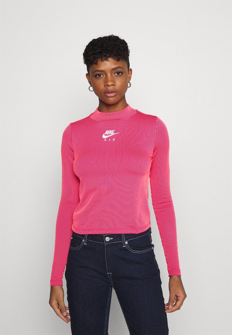 Nike Sportswear - AIR MOCK - Long sleeved top - fireberry/bright mango/white