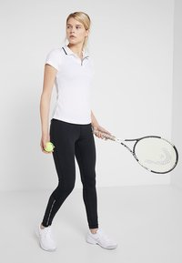 Lacoste Sport - Leggings - black/white - 1