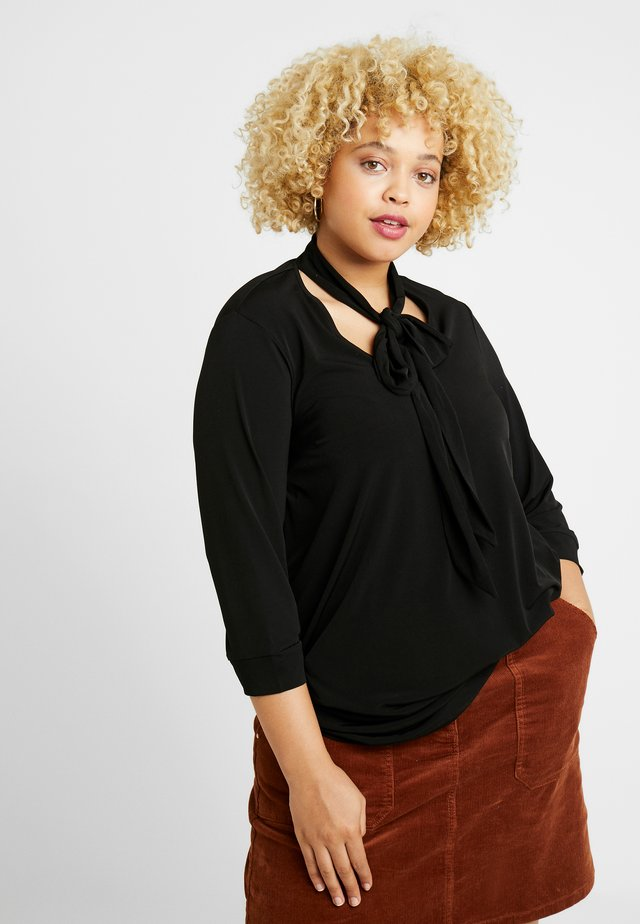 ITY PUSSYBOW BLOUSE - T-shirt à manches longues - black