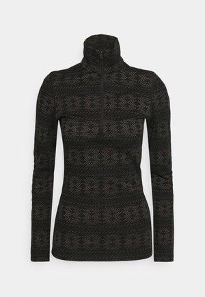 CRYSTALLINE - Sports shirt - black/mink