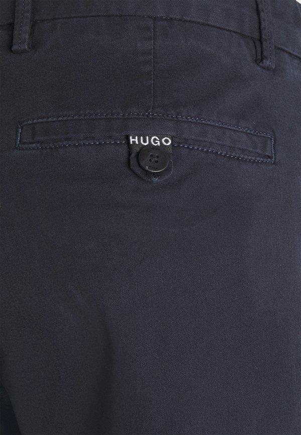 HUGO DAVID - Chinosy - dark blue/granatowy Odzież Męska JKHJ