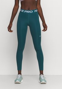 Nike Performance - Leggings - petrol blue - 0