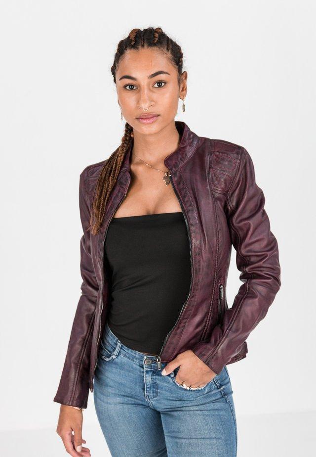 Leather jacket - bordeaux rot