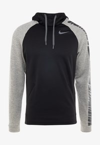 Nike Performance - Jersey con capucha - black/dark grey heather/smoke grey - 3