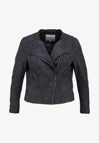 ONLY Carmakoma - CARAVANA - Faux leather jacket - black - 5