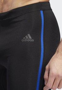 adidas Performance - OWN THE RUN LONG TIGHTS - Caleçon long - black/blue - 5