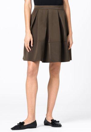 A-line skirt - dunkel oliv