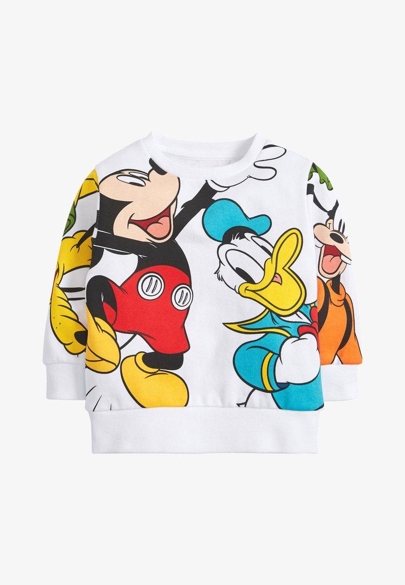 Next - MICKEY AND FRIENDS CREW NECK SWEAT TOP - Jumper - white