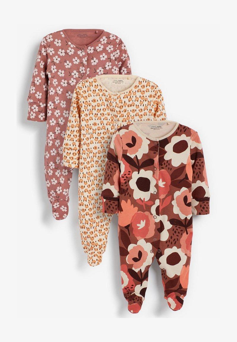 Next - 3 PACK - Sleep suit - brown