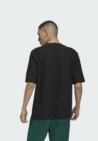 adidas Originals - RIB DETAIL - Basic T-shirt - black - 1