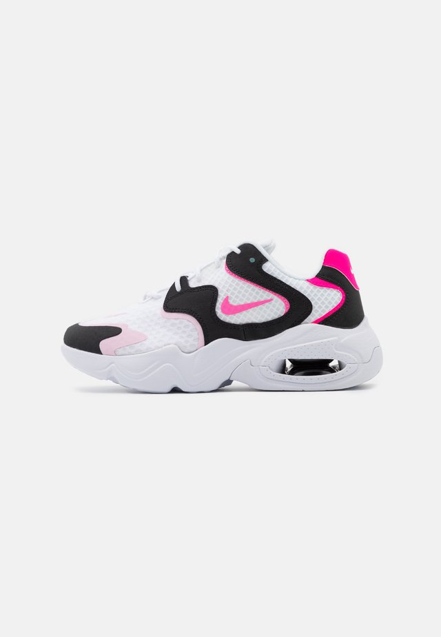 AIR MAX 2X - Matalavartiset tennarit - white/pink glow/pink foam/hyper pink/black