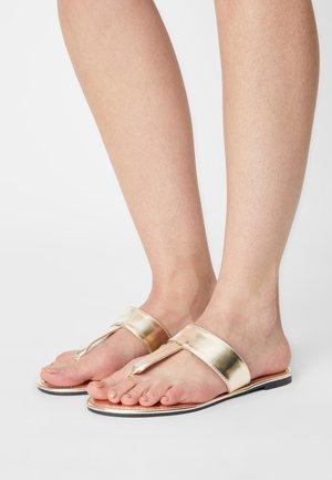 EVERYDAY POST SLIDE - T-bar sandals - gold metallic