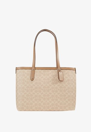 SIGNATURE CENTRAL TOTE WITH ZIP - Handbag - sand taupe