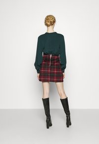 New Look - DUDLEY BRUSHED CHECK MINI - A-line skirt - multi - 2