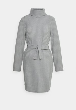 VIELITA HIGH NECK DRESS - Strikket kjole - light grey