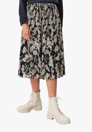 Pleated skirt - navy aop