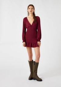 PULL&BEAR - Day dress - bordeaux - 1