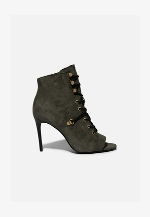 JOANNA - Lace-up ankle boots - khaki