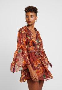 Topshop - AUTUMN FLORAL TASSEL TIE - Day dress - multi - 0